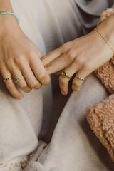 Chunky sea signet ring gold