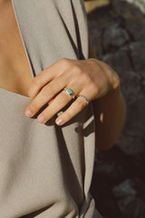 Chunky sea signet ring silver