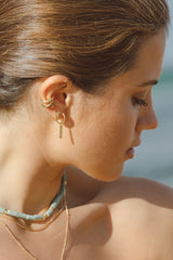 Texture bar earring gold plated