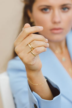 L'amour pinky ring gold plated