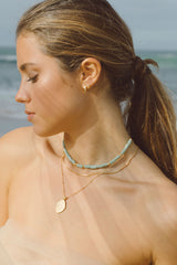 Aqua bay necklace gold