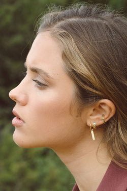 Ice star ear cuff gold plated