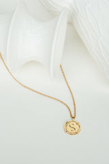 Yin yang coin pendant gold plated