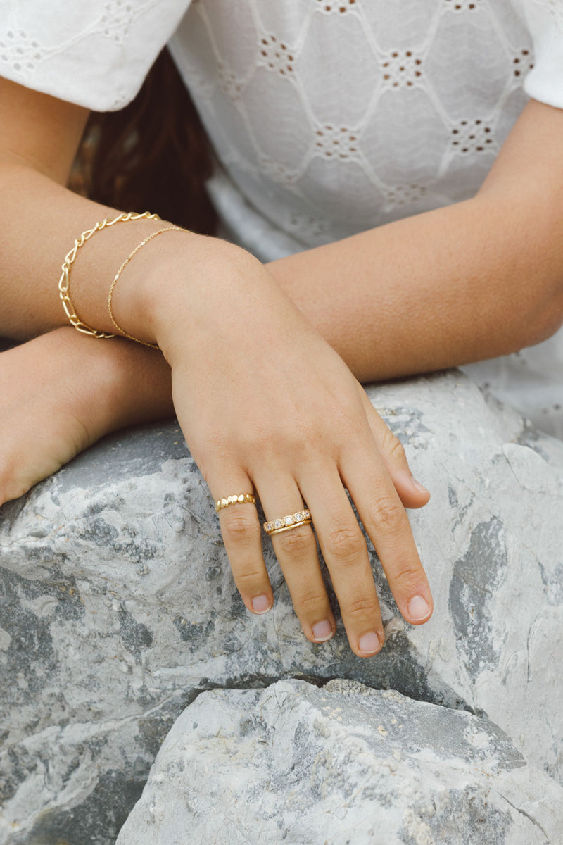 Shine for eternity ring gold plated