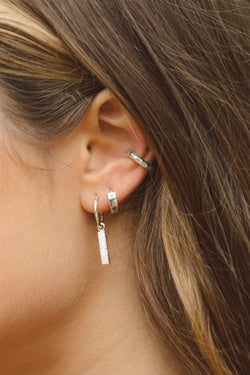 Ice star ear cuff silver