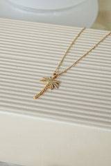 Palm tree pendant gold