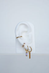 Lilac dream earring gold