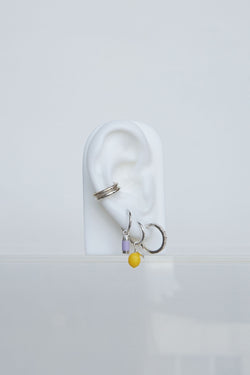 Lemon earring silver