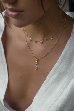 Snake necklace gold plated