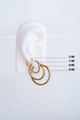Double hoop earring gold (15mm)