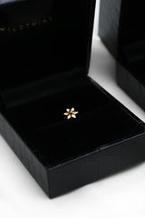 Flower stud 14k solid gold