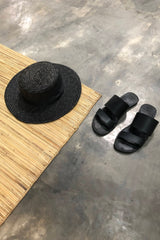 Black slippers double