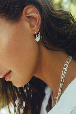 Coin earring silver