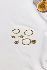 Wild classic earring gold medium (25mm)