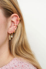 Multi shine stud gold plated