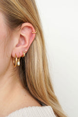 Small dots hoop gold (9mm)