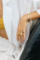 Ivory color bracelet gold plated
