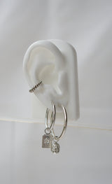 Wild classic earring silver medium (25mm)