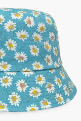 Blue flower bucket hat