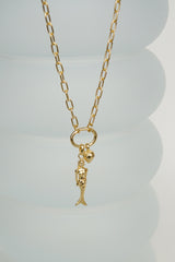Mermaid pendant gold plated