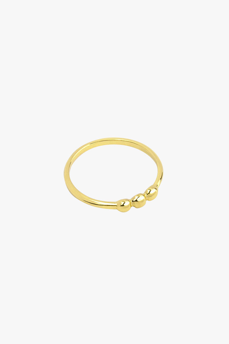 3 is a charm ring gold plated
