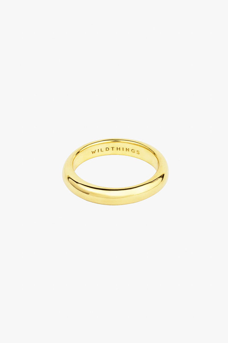 Pebble ring gold plated