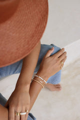 Personalized bar bracelet gold plated (pre-order)