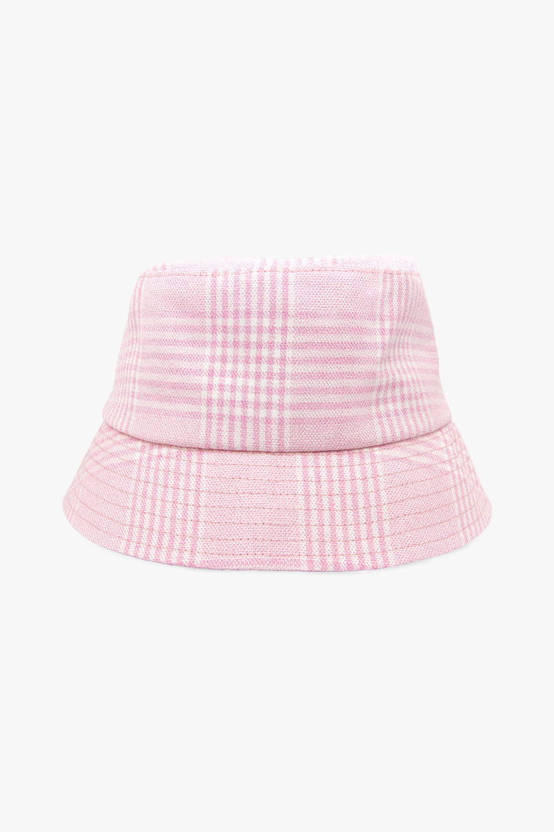 Check mate pink bucket hat