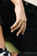 Wild memories pinky ring gold plated