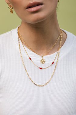 Clover club pendant gold plated