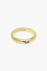 Diamond Pebble ring gold plated