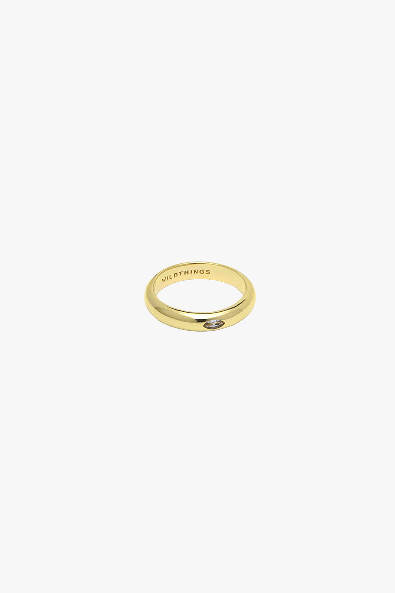 Diamond Pebble ring gold