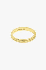 Dotted ring gold plated