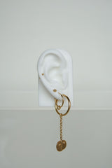 Double hoop earring gold plated (15mm)