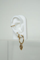 Bubble hoop earring gold