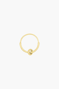 Double hoop earring gold