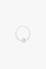 Double hoop earring silver