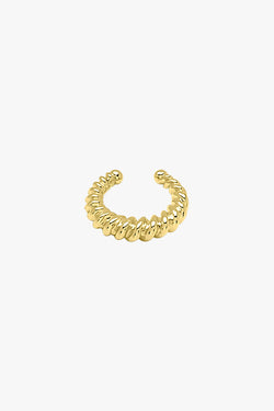 Twisted ear cuff gold