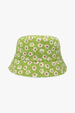 Green flower bucket hat