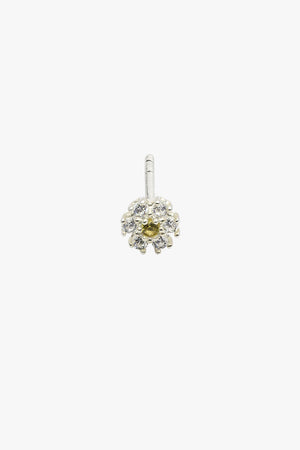 Ice flower stud silver