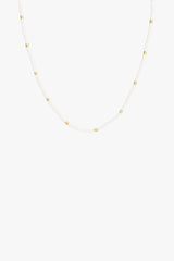 Ivory necklace gold