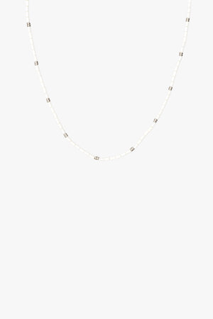 Ivory necklace silver