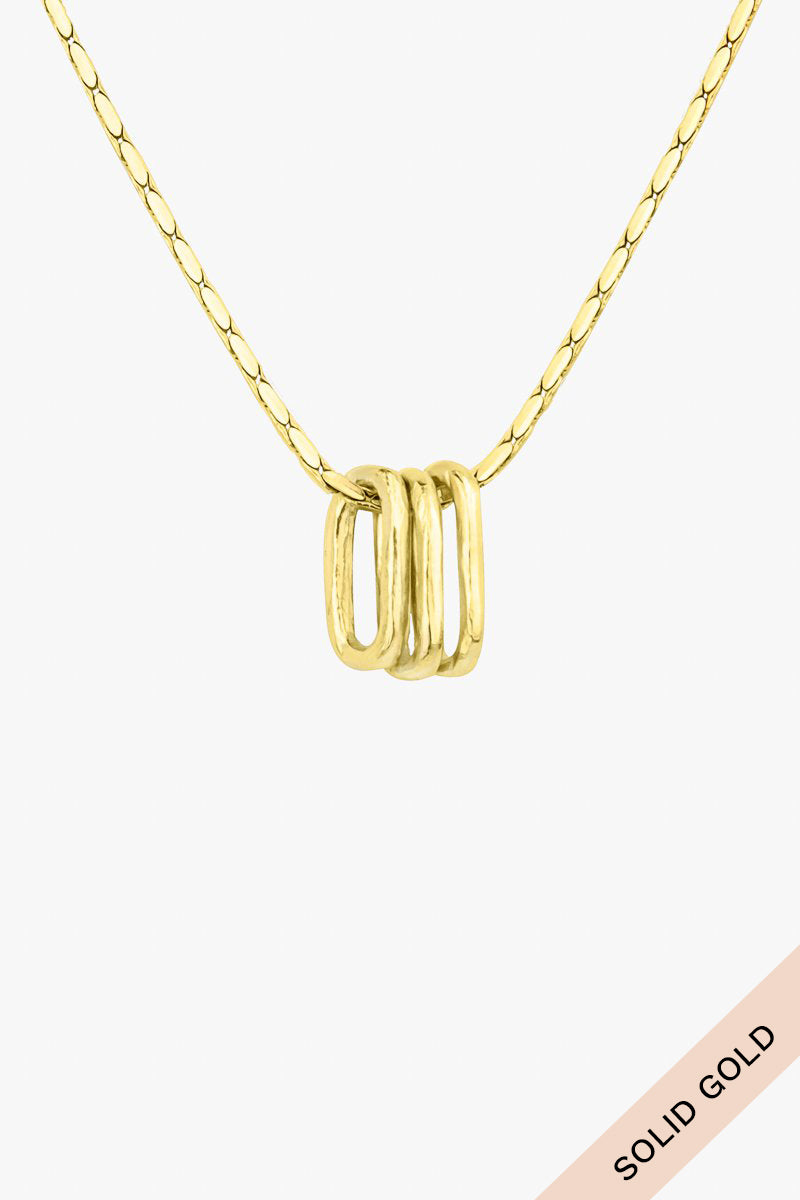 Love child pendant 14k solid gold
