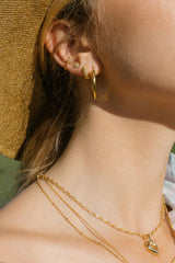 Bubble ear cuff gold
