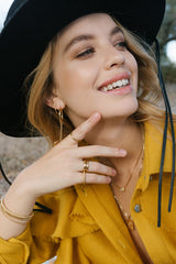 Citrine Pebble ring gold
