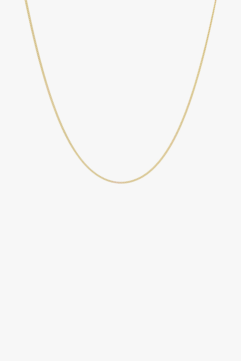 Curb chain necklace gold (45cm)