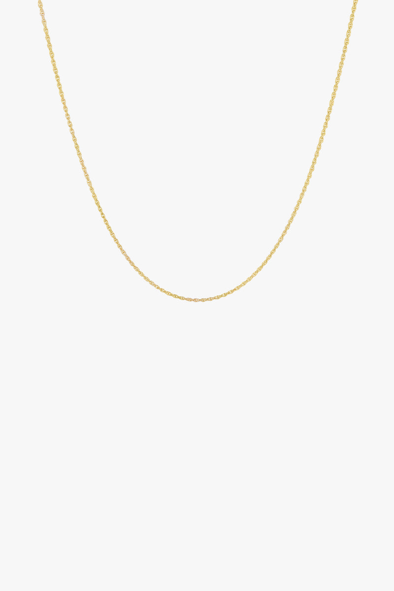 Rope chain necklace gold plated (45cm)