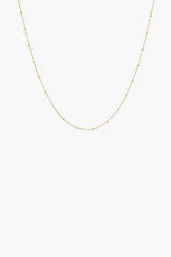 Stud chain necklace gold (45cm & 55cm)