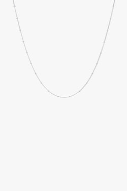 Stud chain necklace silver (45cm)