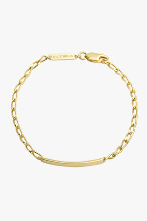 Personalized bar bracelet gold